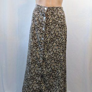 Christopher & Banks Brown Ditzy Floral Skirt